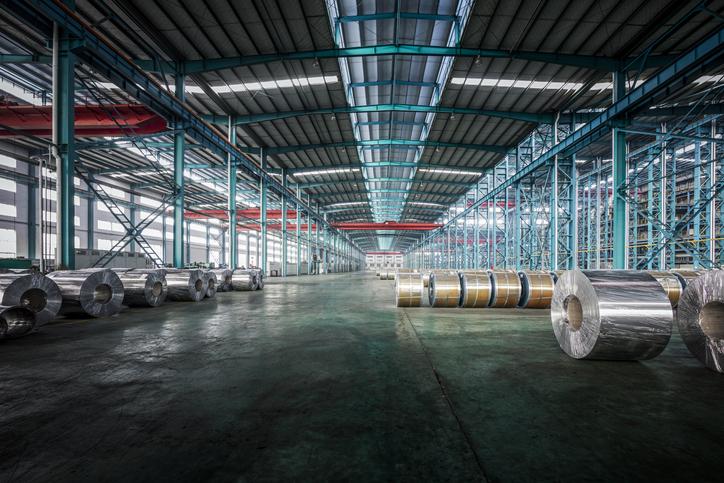 nickel metals in a warehouse