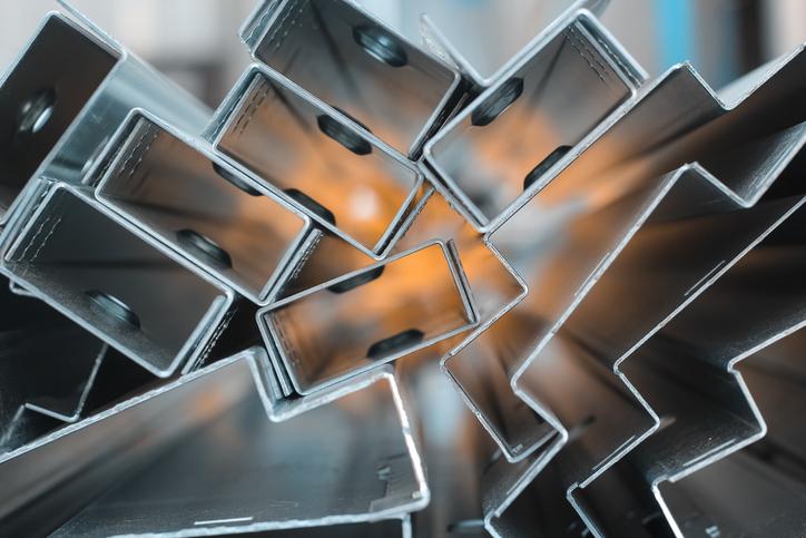 high grade zinc steel closeup